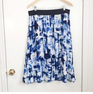 LulaRoe Blue Lola Skirt
